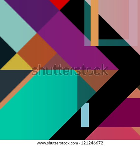 abstract colorful geometric background, halftone - stock vector