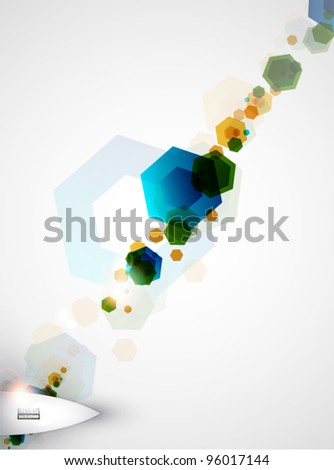 Abstract colorful geometric background - hexagons - stock vector