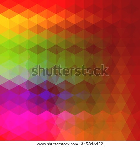Abstract colorful geometric background with shiny vibrant color tones - stock vector
