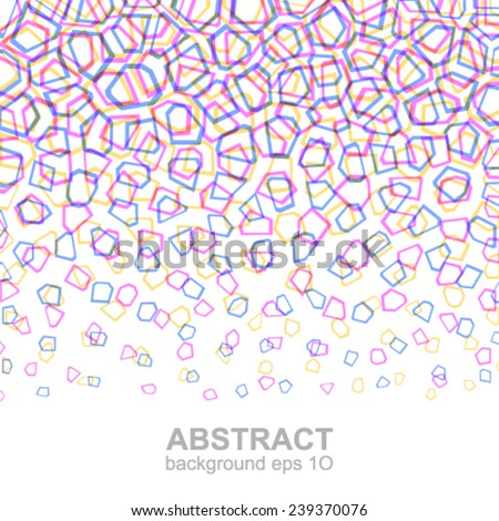 Abstract colorful geometric pattern. - stock vector