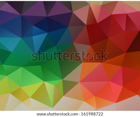 Abstract colorful geometrical vector background of triangles. Eps 10.