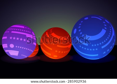 abstract colorful glossy glow sphere - stock vector