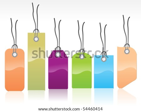 abstract colorful glossy tags vector illustration