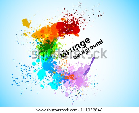 Abstract colorful grunge background - stock vector