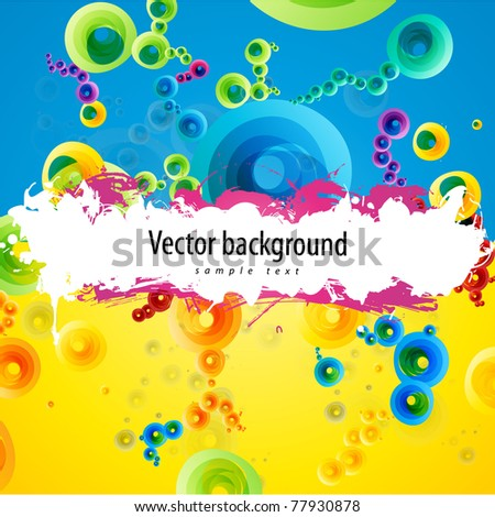 Abstract colorful (grunge banner) background for your business artwork - stock vector