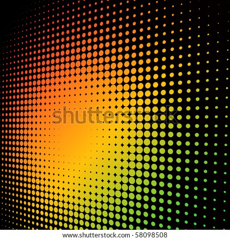 Abstract colorful halftone background with copy space. - stock vector