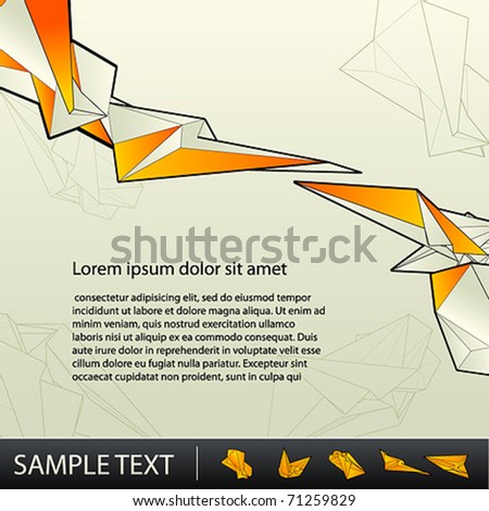 Abstract colorful hi-tech background - stock vector
