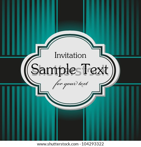 Abstract colorful invitation design made from stripes, suitable for various occasions - stock vector