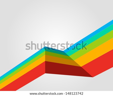 Abstract colorful line vector background eps 10  - stock vector