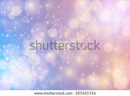 Abstract colorful magic snow background. EPS10 vector illustration - stock vector
