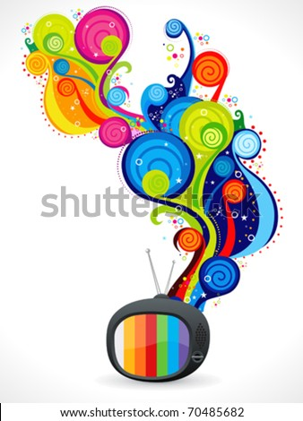 abstract colorful magical television vector illustration - stock vector