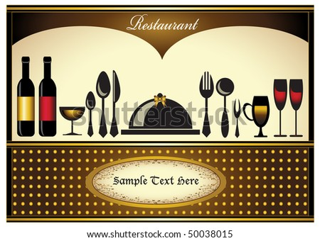 Abstract colorful menu or restaurant card template in full design
