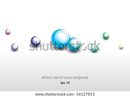 Abstract colorful modern bubble background design (eps10) - stock vector