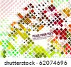 Abstract colorful mosaic background, vector illustration. - stock photo