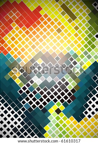 Abstract colorful mosaic background, vector illustration. - stock vector