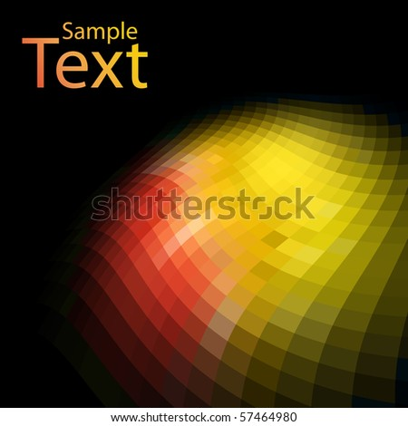 Abstract colorful mosaic background with black copy space. - stock vector