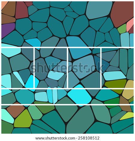 Abstract colorful mosaic pattern separated for website layout