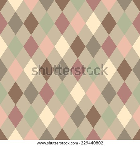 Abstract colorful mosaic. Seamless pattern of geometric shapes in vector.
