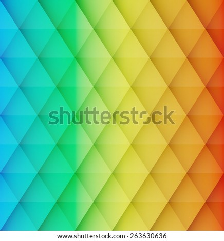 Abstract colorful mosaic vector background. Graphic pattern with rhombus elements. Vector illustration - stock vector