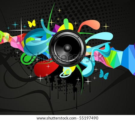 Abstract Colorful Music background