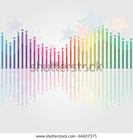 Abstract colorful music background - stock vector