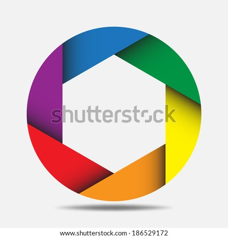 Abstract Colorful Octagon Background,design element.eps10  - stock vector