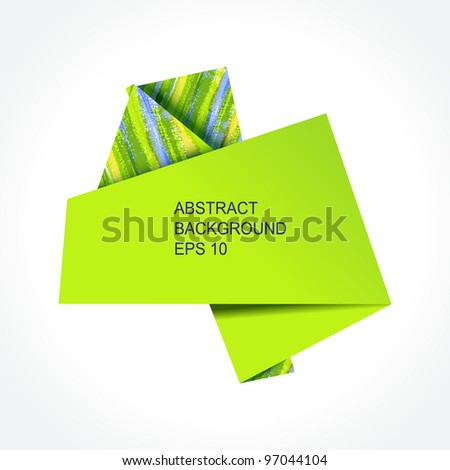 Abstract colorful origami speech bubble. EPS10 - stock vector