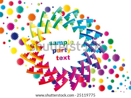 Abstract colorful party background - stock vector