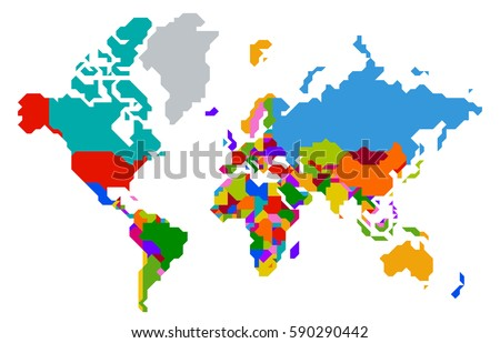 Colorful asia map countries capital cities stock vector 36256987 abstract colorful polygonal world map countries isolated background vector illustration gumiabroncs Choice Image
