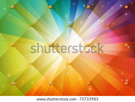 Abstract colorful rainbow background - stock vector