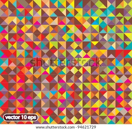abstract colorful rhombus pattern - stock vector
