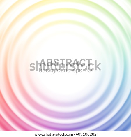 Abstract colorful rippled background with glowing center for your content. Pattern design for banner, poster, flyer, card, postcard, cover, brochure. Eps 10 vector illustration with gradient mesh. - stock vector