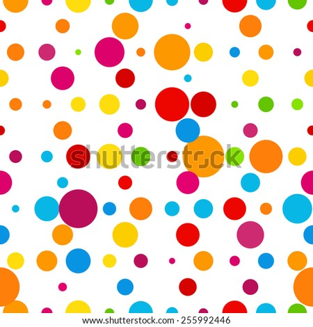 Abstract colorful round celebration seamless background. Vector illustration template - stock vector