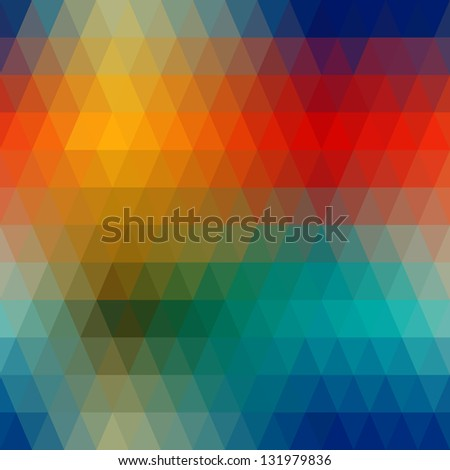 Abstract colorful seamless from geometric shapes. - stock vector