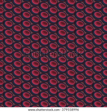 Abstract colorful seamless geometric background created from ellipse pattern intersections