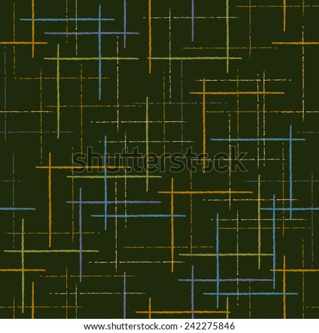 Abstract colorful seamless vector pattern based on the uneven bars - stock vector
