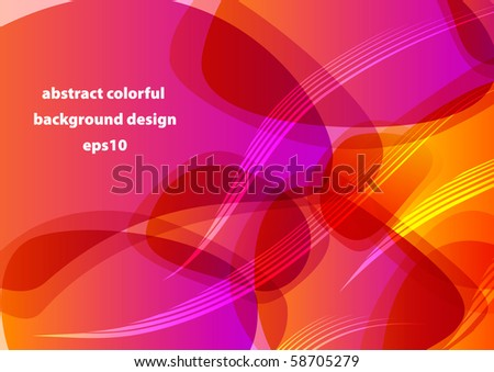 Abstract colorful shiny backround design (eps10) - stock vector