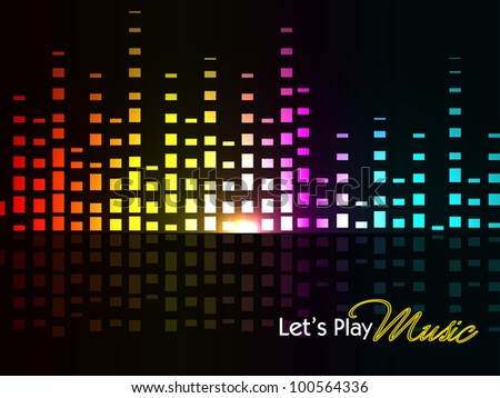 Abstract colorful shiny musical background with volume sign, can be use as flyer, banner or poster for discotheque, party and other events. EPS 10. Vector illustration. - stock vector
