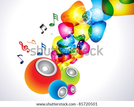 abstract colorful sound background vector illustrator - stock vector