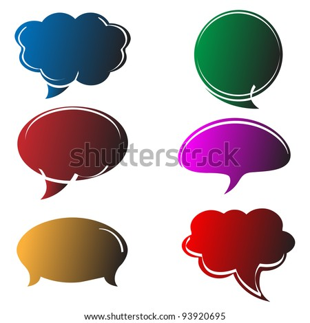 Abstract colorful speech bubbles in comics style