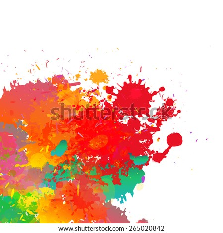 Abstract colorful splash background. Watercolor background illustration. - stock vector
