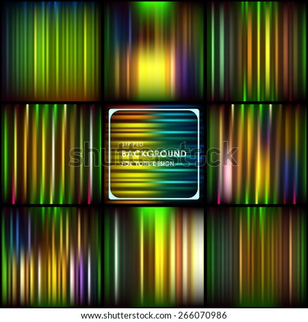 Abstract colorful striped background - stock vector