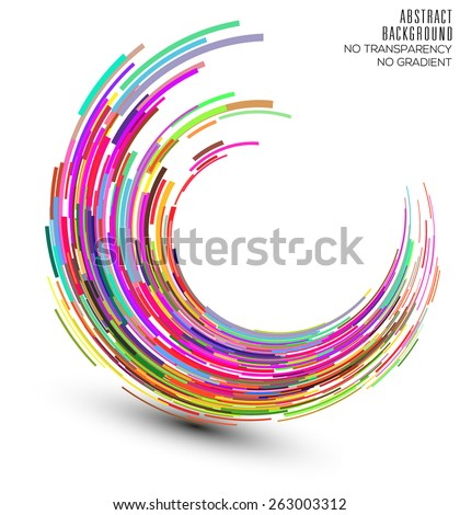 Abstract colorful swirl shape illustration, design element. - stock vector