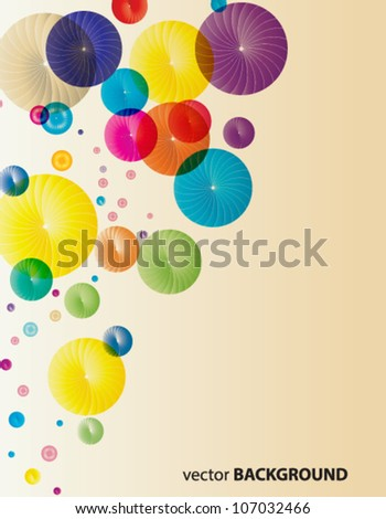 Abstract colorful swirls - stock vector