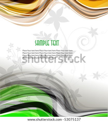 Abstract colorful transparent waves. Vector