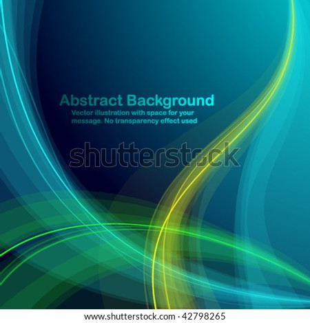 Abstract colorful transparent waves. Vector illustration in RGB colors - stock vector