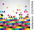 Abstract colorful triangles background design vector - stock vector