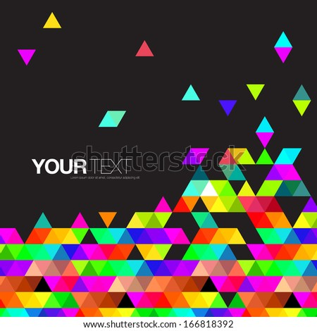 Abstract colorful triangles background design with your text  Eps 10 vector illustration - stock vector