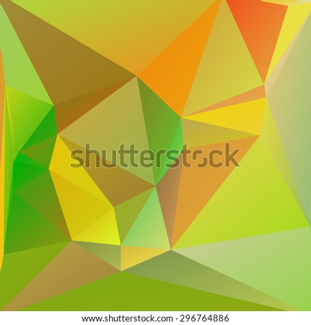 abstract colorful triangles background, vector illustration - stock vector