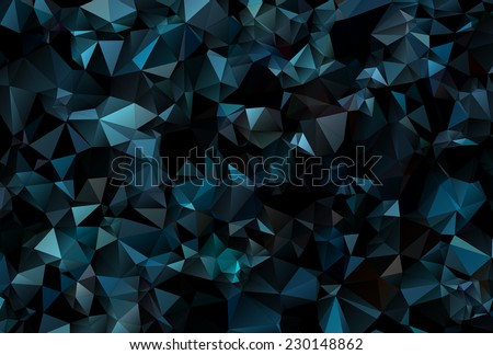Abstract Colorful Triangular Background - stock vector